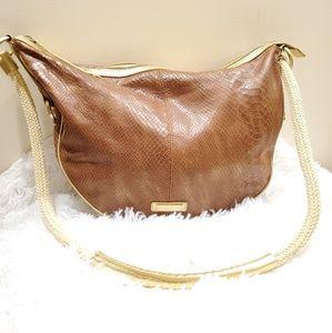 Adrienne vittadini | brown snakeskin bag